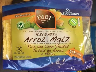 Tostadas de arroz y maíz - Produit - es