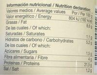 VIANDINA - Información nutricional - es