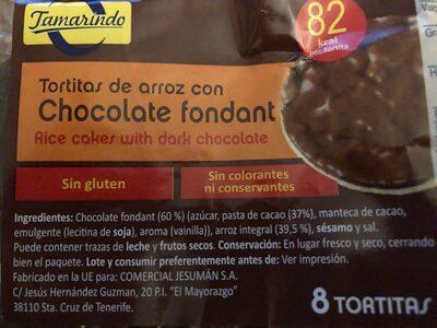 Tortitas de arroz con chocolate fondant - Prodotto - es