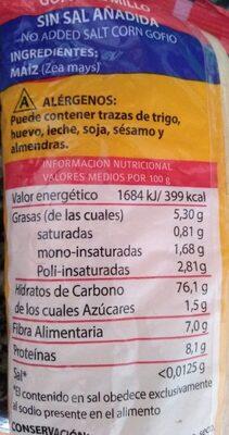 Gofio de millo - Información nutricional - es
