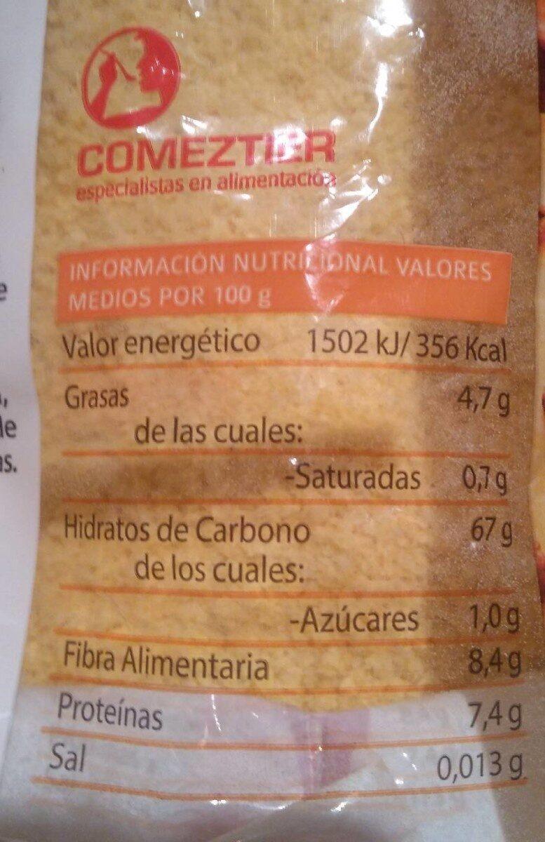 Frangollo instantáneo - Informació nutricional