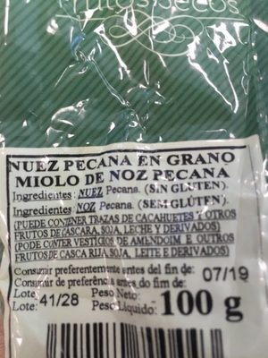 Frutos secos - Ingredients - es