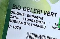 Celeri vert bio sachet 350g Espagne - Ingrédients - fr