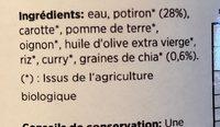 Potage de potiron et graines de chia - Ingredientes