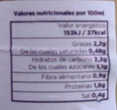 BIO Crema de Verduras con Kale y Chlorella - Nutrition facts
