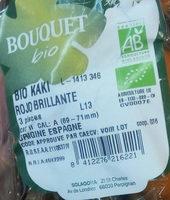 Kaki Bio - Ingrédients - fr