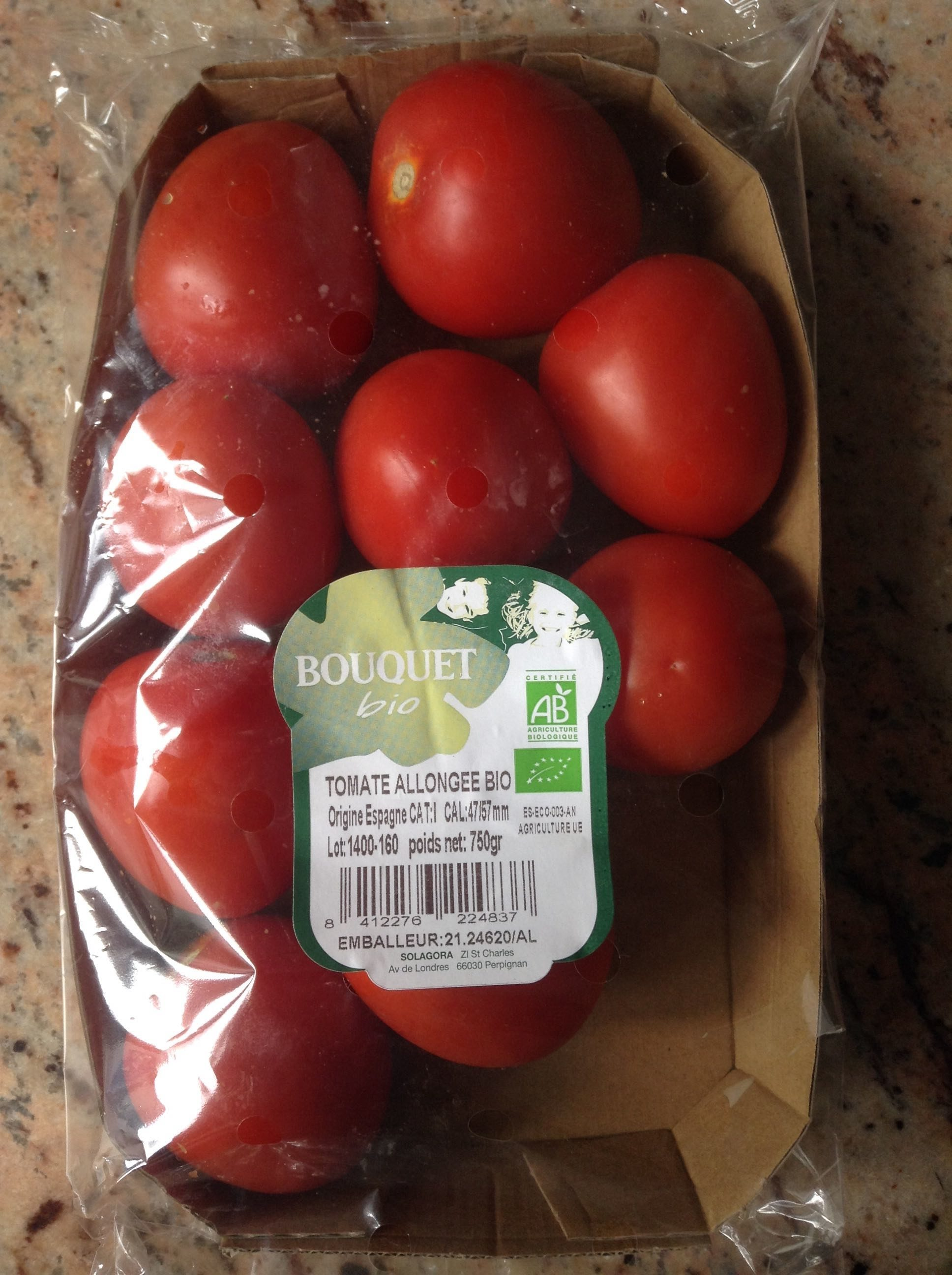 Tomates allongées bio - Produit - fr