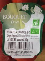 Tomates allongées bio - Ingrédients - fr