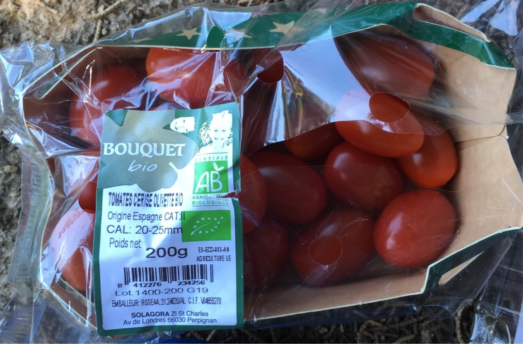 Tomates cerise olivette bio - Produit - fr