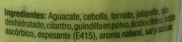 Guacamole picante - Ingrédients - es