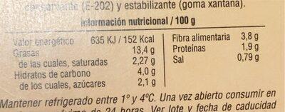 Guacamole picante - Informations nutritionnelles - es