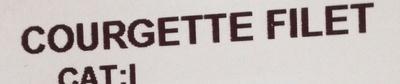 Courgette filet - Ingrédients - fr