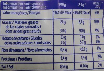 Magdalenas - Información nutricional