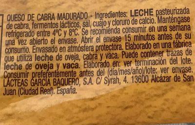 G.baquero Cabra LLONZ.125 - Ingredients