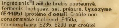 Manchego semi curado - Ingredients - fr