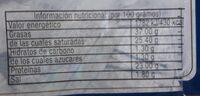 Manchego semi curado - Informació nutricional - fr