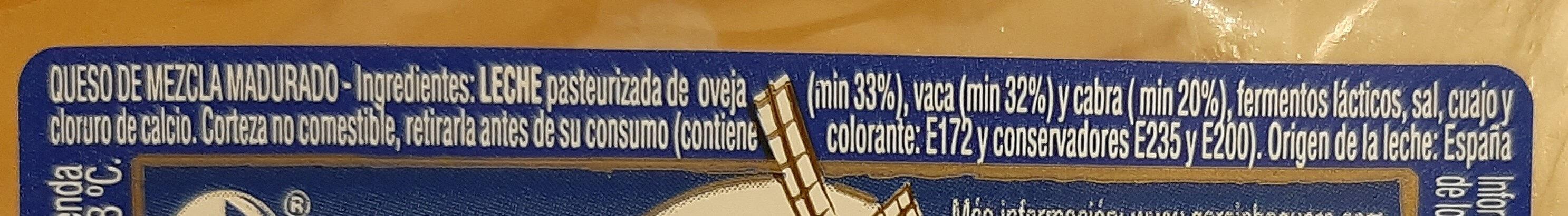 Fromage semicurado - Ingredientes - es