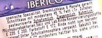 Iberico am Stück - Ingrediënten