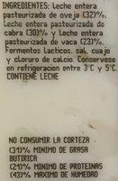 García Baquero Queso Iberico - Ingrédients - es