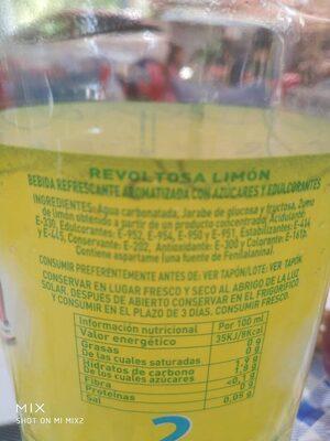 Revoltosa limón - Información nutricional - es