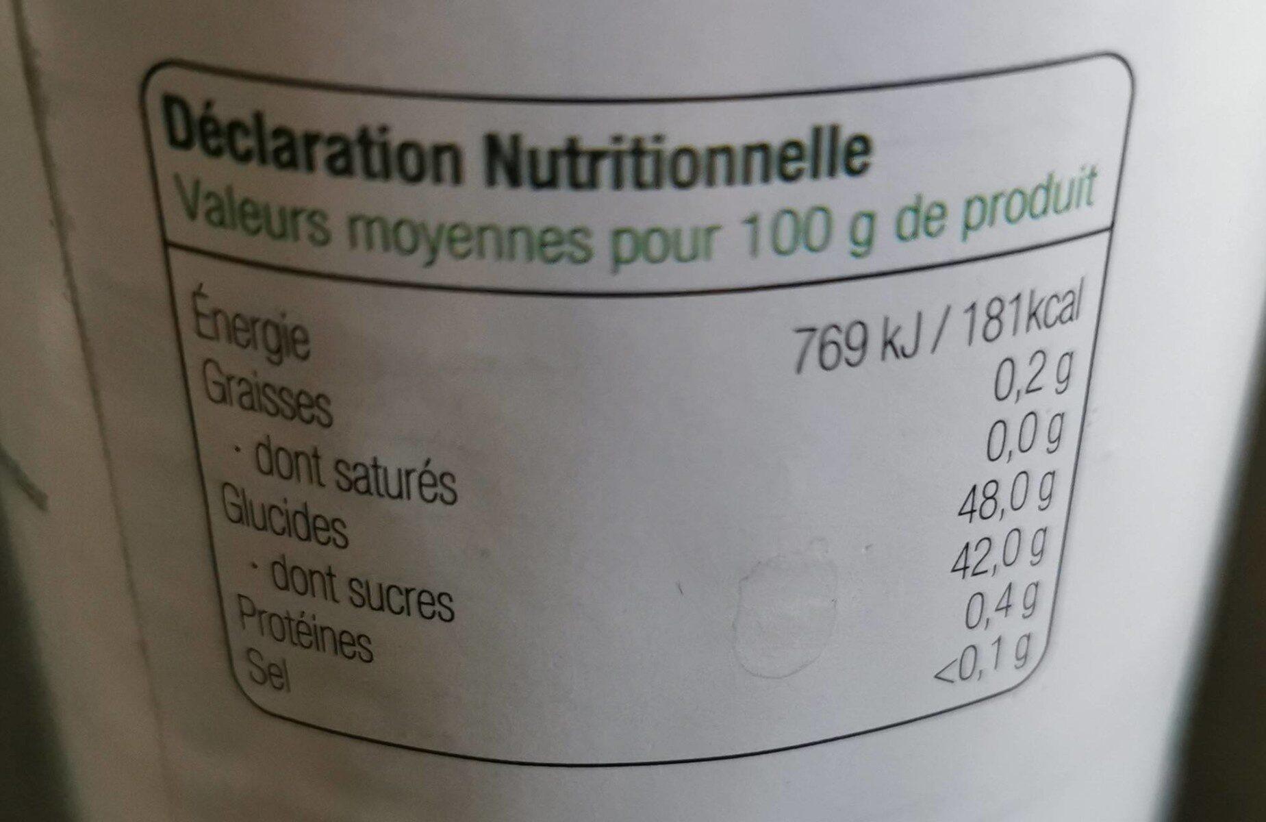 Confiture extra de fraise allegee en sucre - Informations nutritionnelles - fr