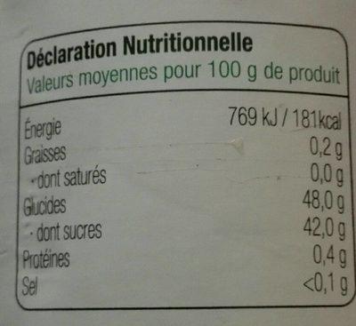Confiture extra de fraise allegée en sucre - Voedingswaarden - fr