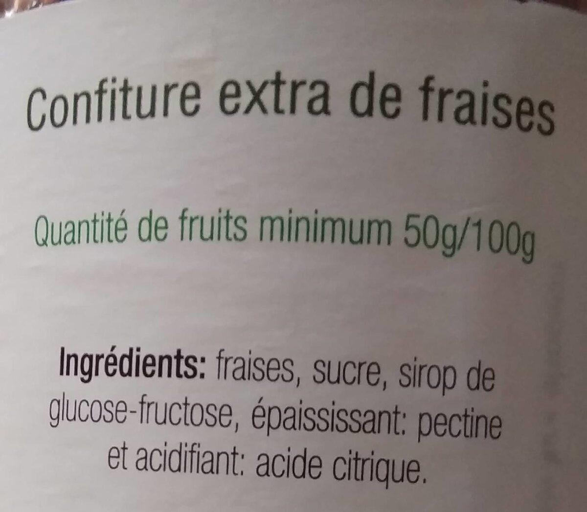Confiture de fraises - Ingrédients - fr