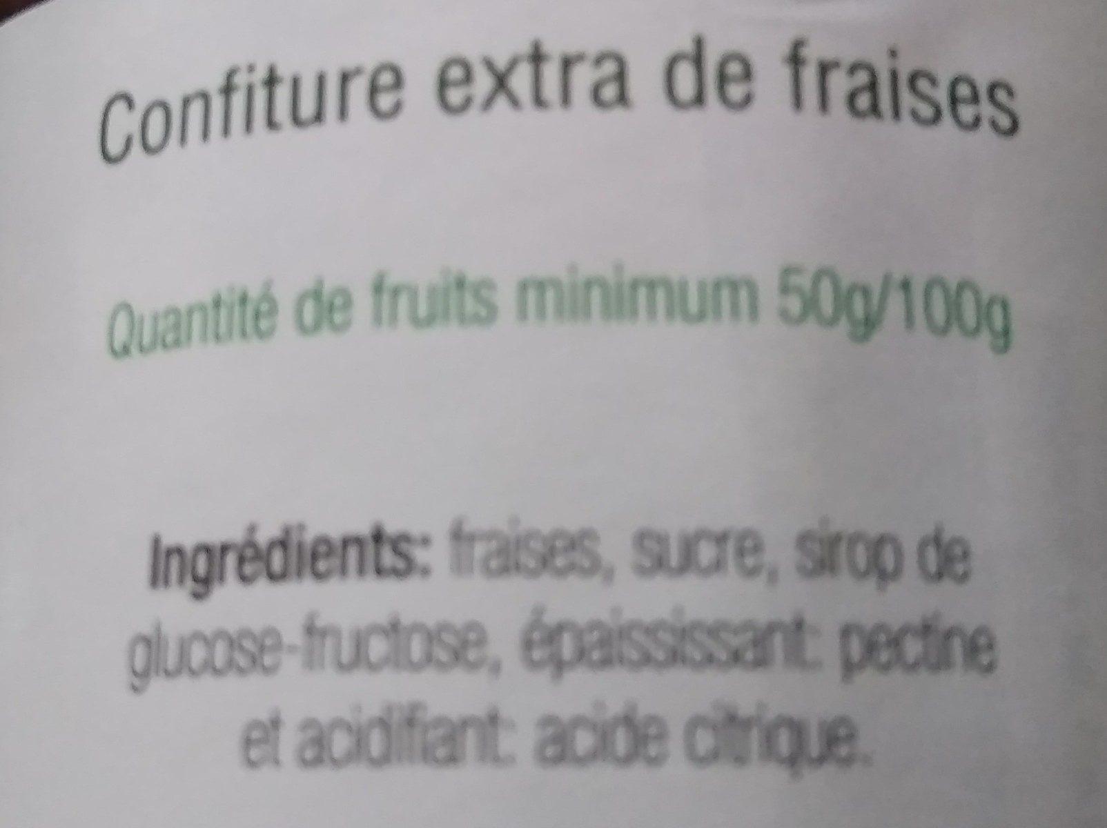 Confiture extra de fraises - Ingrédients - fr