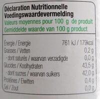 Confiture de fraises allégée en sucre - Informations nutritionnelles - fr