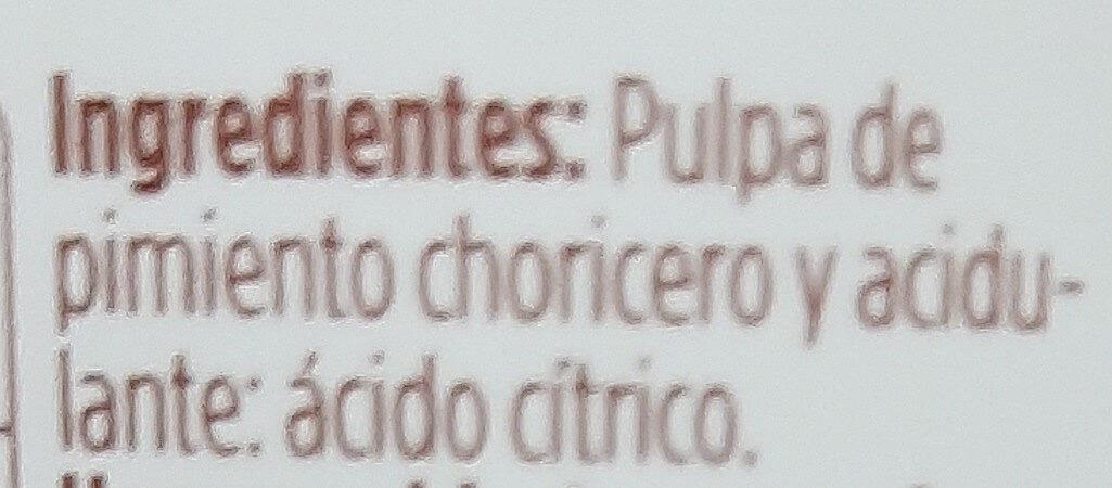 Pulpa de pimiento choricero - Ingredientes - es