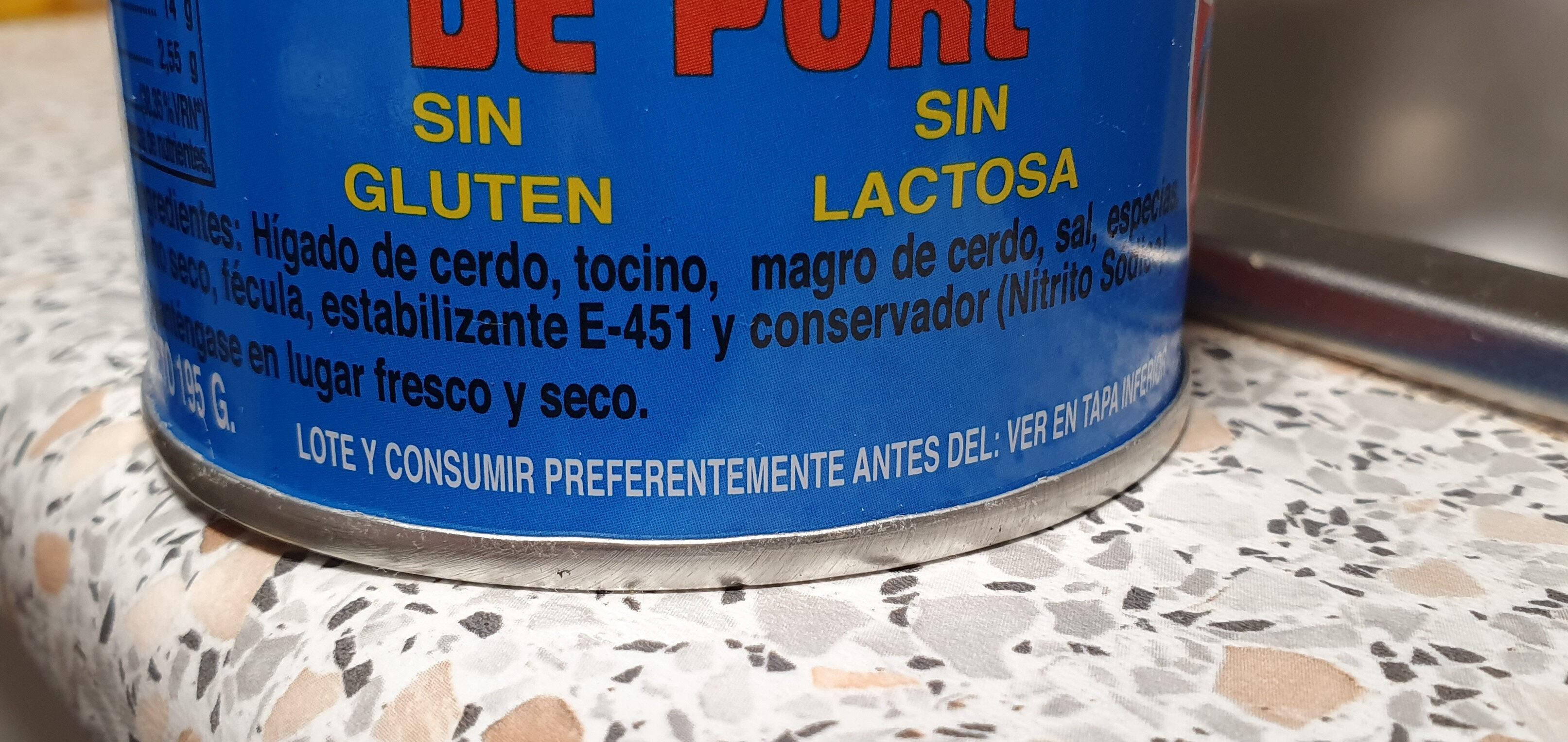 Paté - Ingredientes