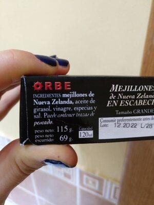 Mejillones de Nueva Zelanda en escabeche - Ingredients - es