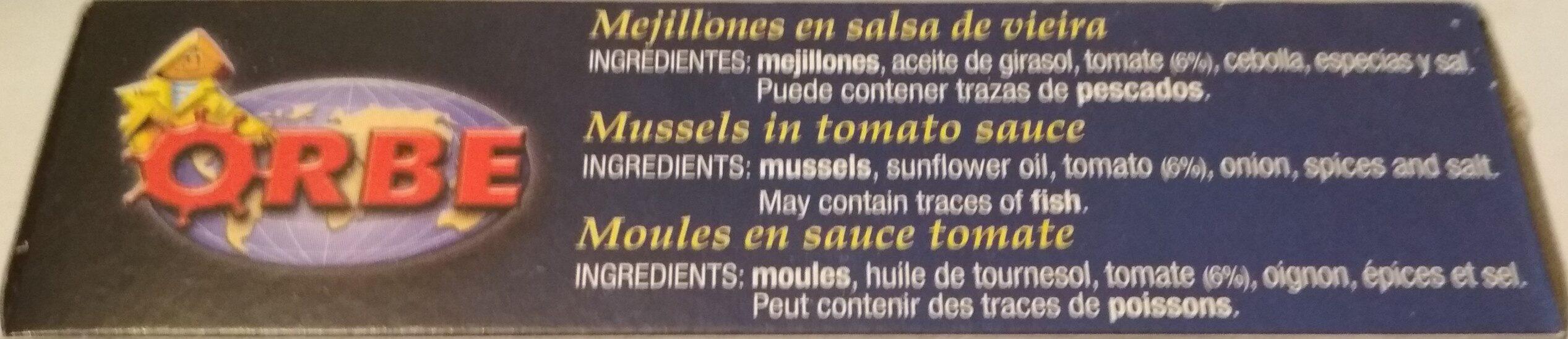 Mejillones en salsa vieira - Ingredients - es