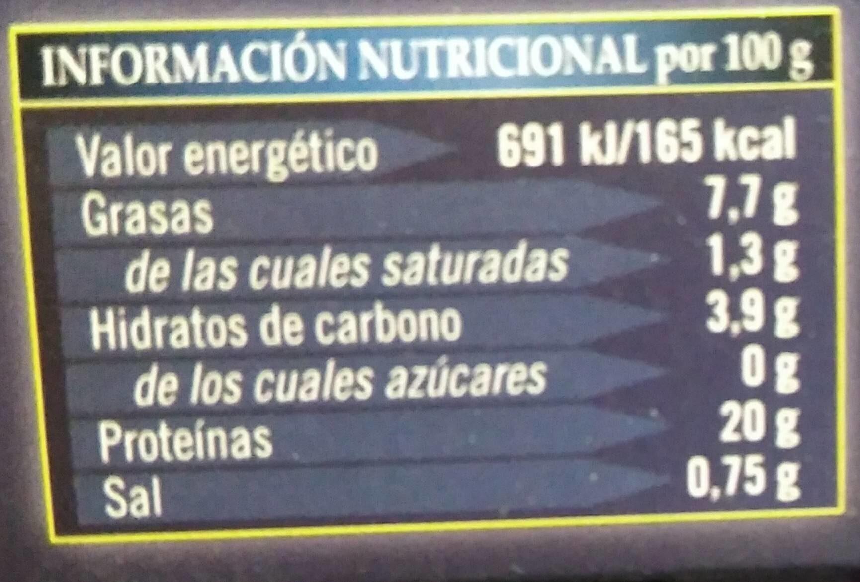 Mejillones de las rías gallegas - Nutrition facts