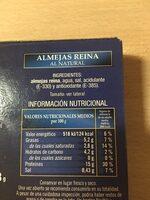 Almejas reina al natural - Información nutricional - es