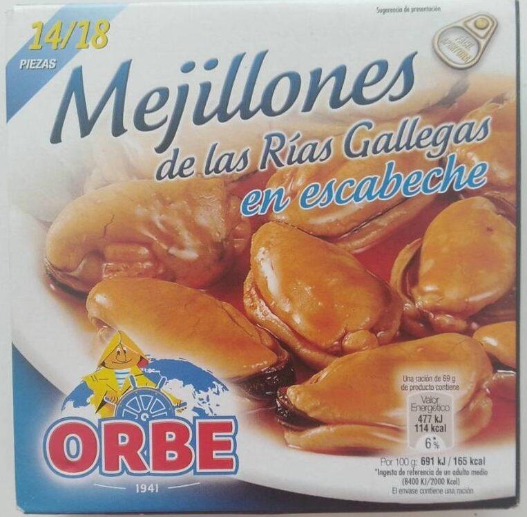 Mejillones de las rías gallegas en escabeche - Producto