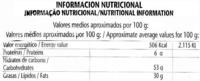 """Patatas fritas onduladas """"El Corte Inglés"""" - Información nutricional"""