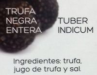 Trufa negra entera - Ingrédients - es