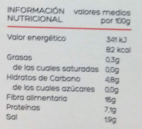 Trufa negra entera - Informations nutritionnelles - es