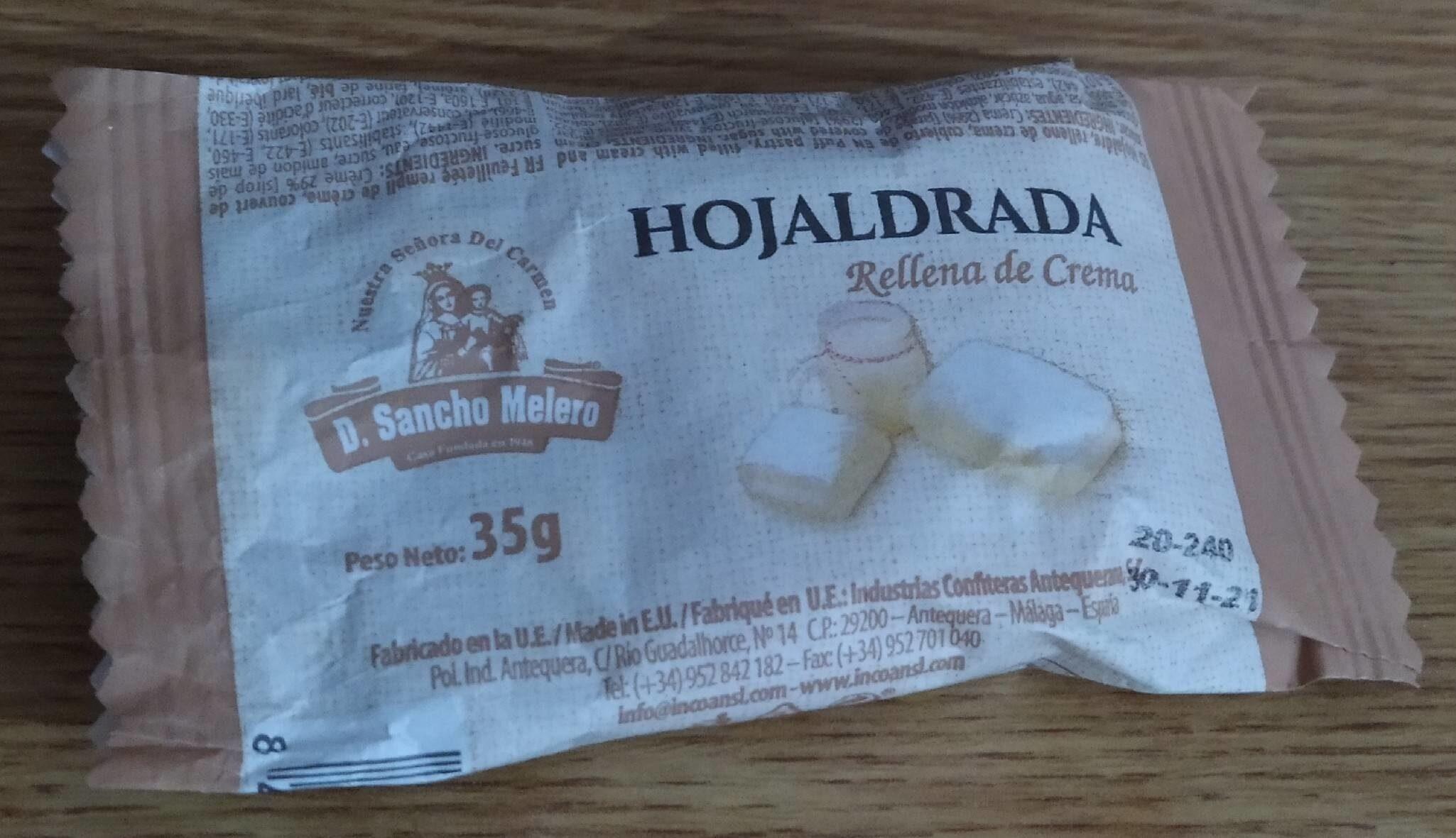 Hojaldrada rellena de crema - Producto - es
