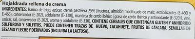 Hojaldradas rellenas de crema - Ingredients