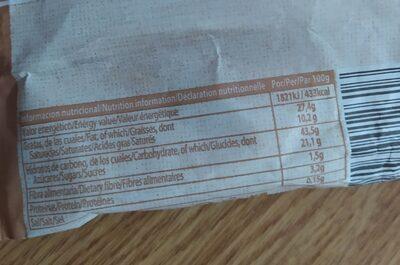 Hojaldrada rellena de crema - Información nutricional - es