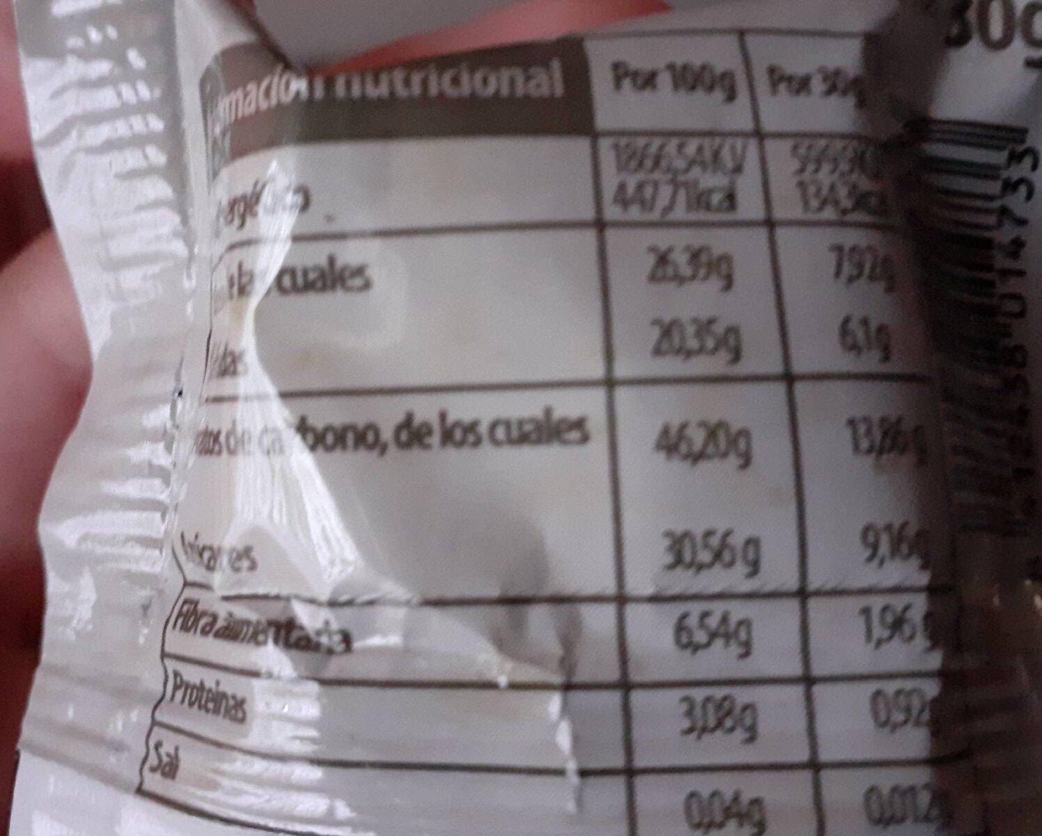 Bola de coco - Información nutricional - es