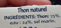 Thunfisch naturell - Ingrédients