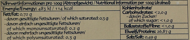 Thunfisch naturell - Nährwertangaben - de