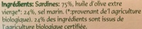 Sardines à l'Huile d'Olive Biologique - Ingrediënten