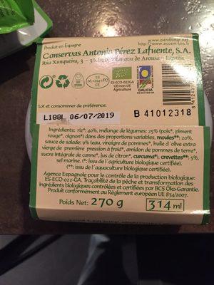 Salade De Riz Aux Fruits de mer - Ingrediënten - fr