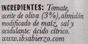 Tomate frito sin azucares añadidos - Ingredients - es