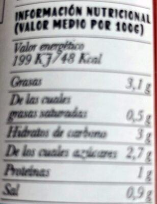 Tomate frito sin azucares añadidos - Nutrition facts - es