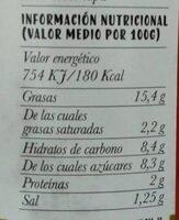 Tomate frito el sabor de siempre - Informació nutricional - es